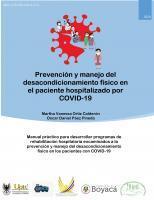Cubierta para Prevención y manejo del desacondicionamiento físico en el paciente hospitalizado por COVID-19