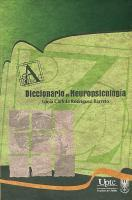 Cubierta para Diccionario de Neuropsicología