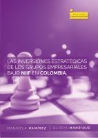 Cubierta para Las inversiones estratégicas de los grupos empresariales Nutresa, Sura y Argos bajo Niff en Colombia