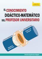Cubierta para El Conocimiento Didáctico-Matemático del Profesor Universitario