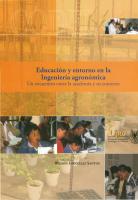 Cubierta para Educación y entorno en la Ingeniería agronómica: Un encuentro entre la academia y su contexto