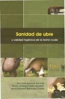 Cubierta para Sanidad de ubre y calidad higiénica de la leche cruda