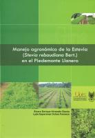 Cubierta para Manejo agronómico de la estevia (Stevia rebaudiana Bert.) en el piedemonte llanero