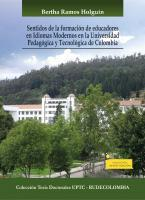 Cubierta para Sentidos de la formación de educadores en idiomas modernos en la Universidad Pedagógica y Tecnológica de Colombia