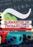 Cubierta para Elementos de probabilidad: Apoyo al estudio independiente