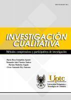 Cubierta para Investigación Cualitativa: Métodos comprensivos y participativos de investigación