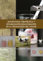 Cubierta para Importancia terapéutica y estabilizantes-edulcorantes en la tecnología del yogur