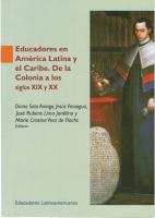 Cubierta para Educadores en América Latina y el Caribe. De la Colonia a los Siglos XIX y XX