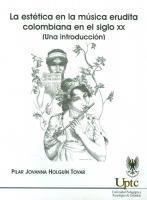 Cubierta para La estética en la música erudita Colombiana del siglo XX (Una introducción)
