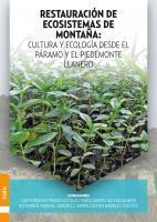 Cubierta para Restauración de ecosistemas de montaña: cultura y ecología desde el páramo y el Piedemonte Llanero